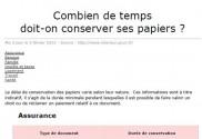 Les d lais de conservation - Conservation papiers administratifs ...